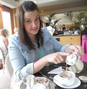 Me pouring tea