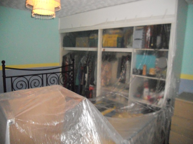 Getting it all covered - don't want paint splatters on my nice furniture!
