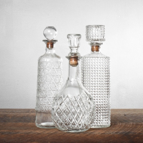 Lovely glass cut decanters!